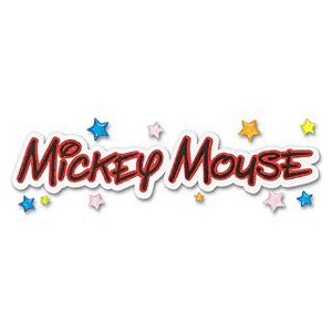 EK Success Disney Collection Title Stickers - Mickey Mouse, CLEARANCE