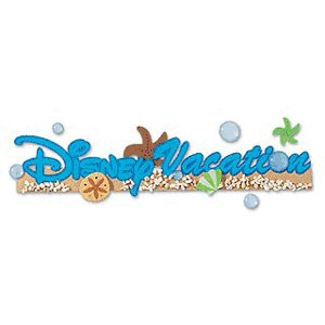 EK Success Disney Collection Title Stickers - Disney Vacation