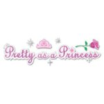 EK Success Disney Collection Title Stickers - Pretty as a Princess, CLEARANCE