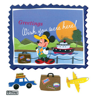 EK Success - Disney Collection - 3 Dimensional Stickers - Mickey Mouse Postcard, BRAND NEW