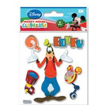EK Success - Disney Collection - Mickey Mouse Clubhouse - 3 Dimensional Stickers - Goofy