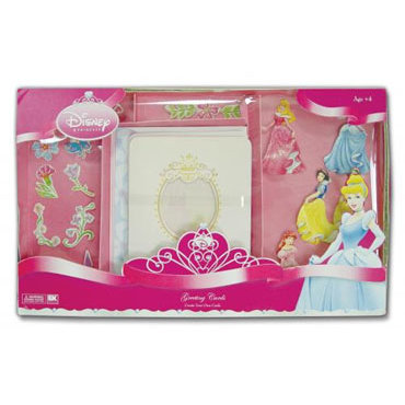 EK Success - Disney Collection - Create Your Own Card Set - 10 Cards With Envelopes - Princess Greeting Cards, CLEARANCE