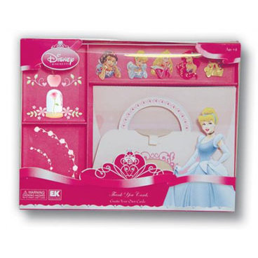 EK Success - Disney Collection - Create Your Own Card Set - 10 Cards With Envelopes - Princess Thank You Cards, CLEARANCE
