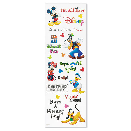EK Success - Disney Phrase Stickers - Mickey, CLEARANCE