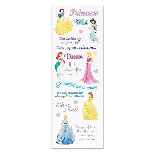 EK Success - Disney Phrase Stickers - Princess, CLEARANCE