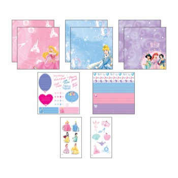 EK Success - Disney - 8x8 Page Kit - Princess Jewels