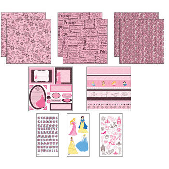 EK Success - Disney Princess Collection - 12x12 Page Kit - Princess Twist