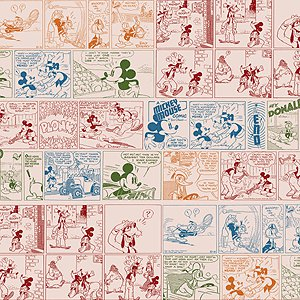 EK Success Disney Collection Patterned Paper - Vintage Mickey Comic Paper