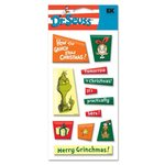 EK Success Dr. Seuss - Epoxy Stickers - Grinch Tiles, CLEARANCE