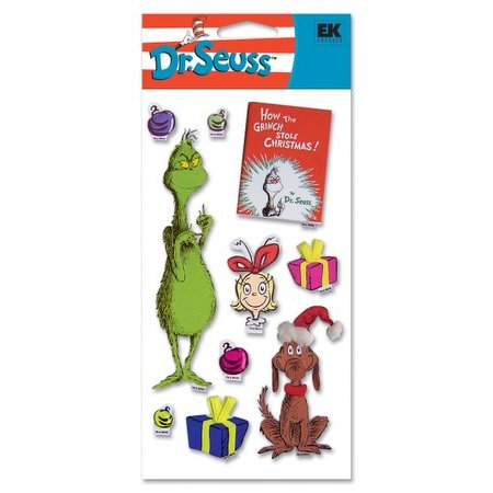 EK Success Dr. Seuss - 3D Dimensional Stickers - The Grinch, CLEARANCE
