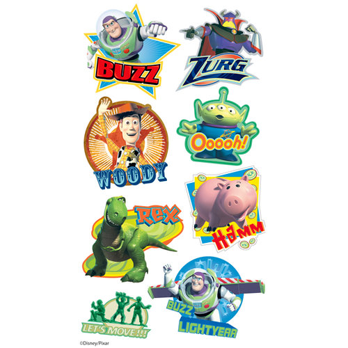 EK Success - Disney - Toy Story Collection - 3 Dimensional Puffy Stickers - Toy Story