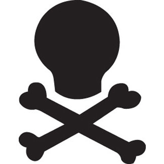 EK Success - Paper Shapers - Medium Punch - Skull 'N Bones