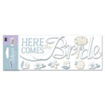 EK Success - Jolee's Boutique Title Wave Stickers - I Do Wedding Collection - Here Comes The Bride, CLEARANCE