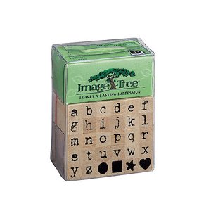 Image Tree Alphabet Stamps - Antique Typewriter Lower Case