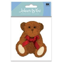 EK Success - Jolee's By You - Dimensional Stickers - Teddy Bear, CLEARANCE