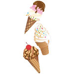 EK Success - Jolee's By You  Slims - Dimensional Stickers - Ice Cream