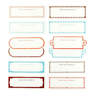 Martha Stewart Crafts - Cafe Au Lait Collection - Self Adhesive Kitchen Labels, BRAND NEW
