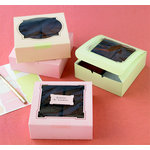 Martha Stewart Crafts - Square Cookie Box Kit - Pink Green and Butter, BRAND NEW