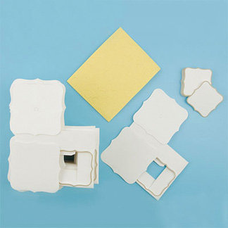 Martha Stewart Crafts - Customizable Flourish Favor Boxes - Ivory, CLEARANCE