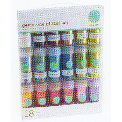 Martha Stewart Crafts - Gemstone Glitter Set - Glitter - Glitter Assortment - 18 Piece Set