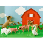 Martha Stewart Crafts - Pipe Cleaner Farm Animals Kit, BRAND NEW