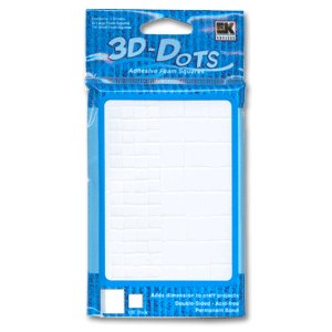 "3-D Dots - Adhesive Foam Squares - White - 1/8"" Thick"