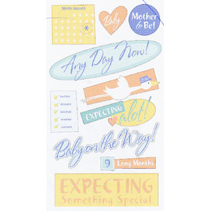 EK Success - Sticko Classic Stickers - Expecting Mother