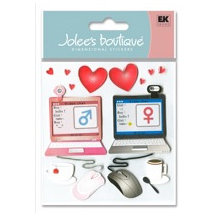EK Success - Jolee's Boutique - 3 Dimensional Stickers - Internet Dating, CLEARANCE