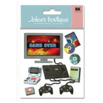 EK Success - Jolee's Boutique - 3 Dimensional Stickers - Video Games