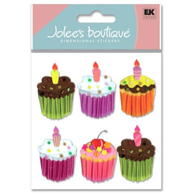 EK Success - Jolee's Boutique - Birthday - Dimensional Stickers - Cupcake
