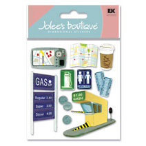 EK Success - Jolee's Boutique - Dimensional Stickers - Car Trip