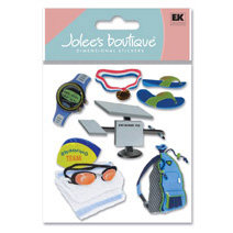 EK Success - Jolee's Boutique - Dimensional Stickers - Swim Class