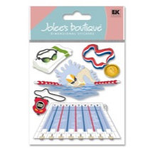 EK Success - Jolee's Boutique - Dimensional Stickers - Swim Team