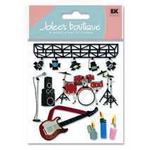 EK Success - Jolee's Boutique - Dimensional Stickers - Concert