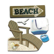 EK Success - Jolee's Boutique - 3 Dimensional Stickers - Beach House
