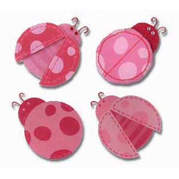 EK Success - Jolee's Boutique - 3 Dimensional Stickers - Pink Ladybugs