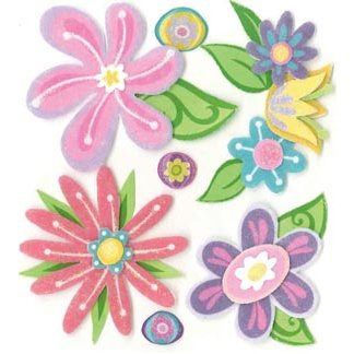 EK Success - Jolee's Boutique - 3 Dimensional Stickers - Fanciful Flowers
