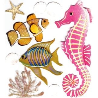 EK Success - Jolee's Boutique - 3 Dimensional Stickers - Sea Creatures