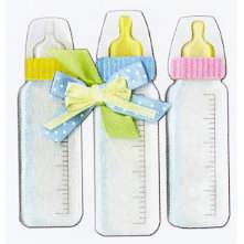 EK Success - Jolee's Boutique - Dimensional Stickers - Baby Bottles