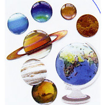 EK Success - Jolee's Boutique - Dimensional Stickers - The Globe and Planets