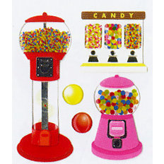 EK Success - Jolee's Boutique - Dimensional Stickers - Bubblegum Machines