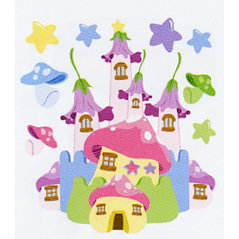 EK Success - Jolee's Boutique - Dimensional Stickers - Fairy Castle, CLEARANCE