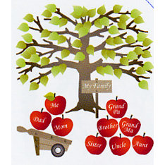 EK Success - Jolee's Boutique - Dimensional Stickers - Family Tree