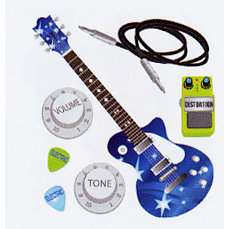 EK Success - Jolee's Boutique - Dimensional Stickers - Electric Guitar