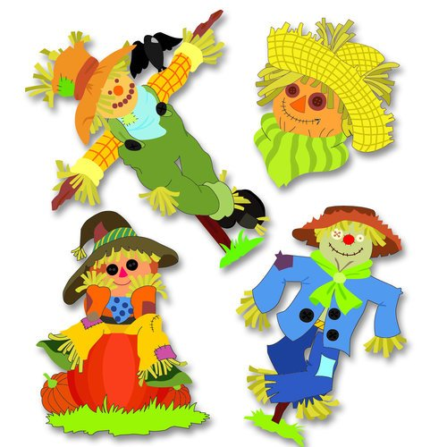 EK Success - Jolee's Boutique - 3 Dimensional Stickers - Scarecrows