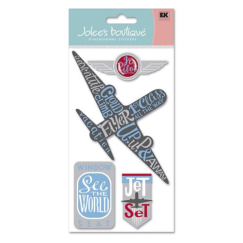 EK Success - Jolee's Boutique Jumbo Stickers - Travel Collection - Airplane