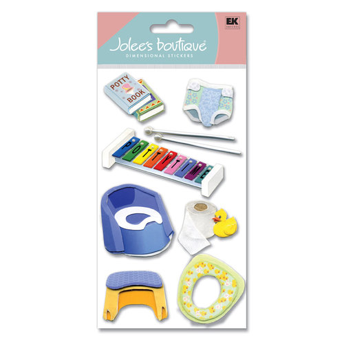 EK Success - Jolee's Boutique - Large Dimensional Stickers - Potty Training, CLEARANCE