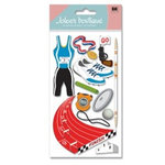 EK Success - Jolee's Boutique - Dimensional Stickers - Track and Field