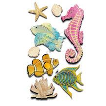 EK Success - Jolee's Boutique Le Grande Dimensional Stickers - Fish and Coral