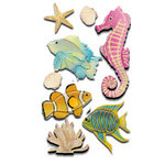 EK Success - Jolee's Boutique Le Grande Dimensional Stickers - Fish and Coral